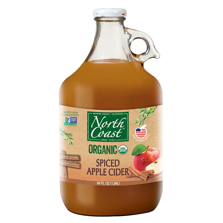 Organic Spiced Apple Cider | 64 oz | North Coast Oganic