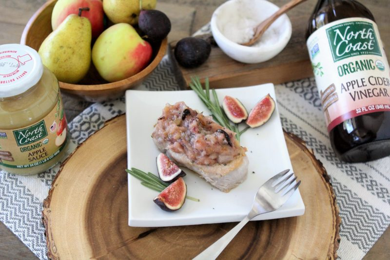 Pork Chops with Pear & Fig Compote Recipe | North Coast Organic