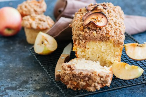 Apple Sauce Streusel Loaf Cake Recipe